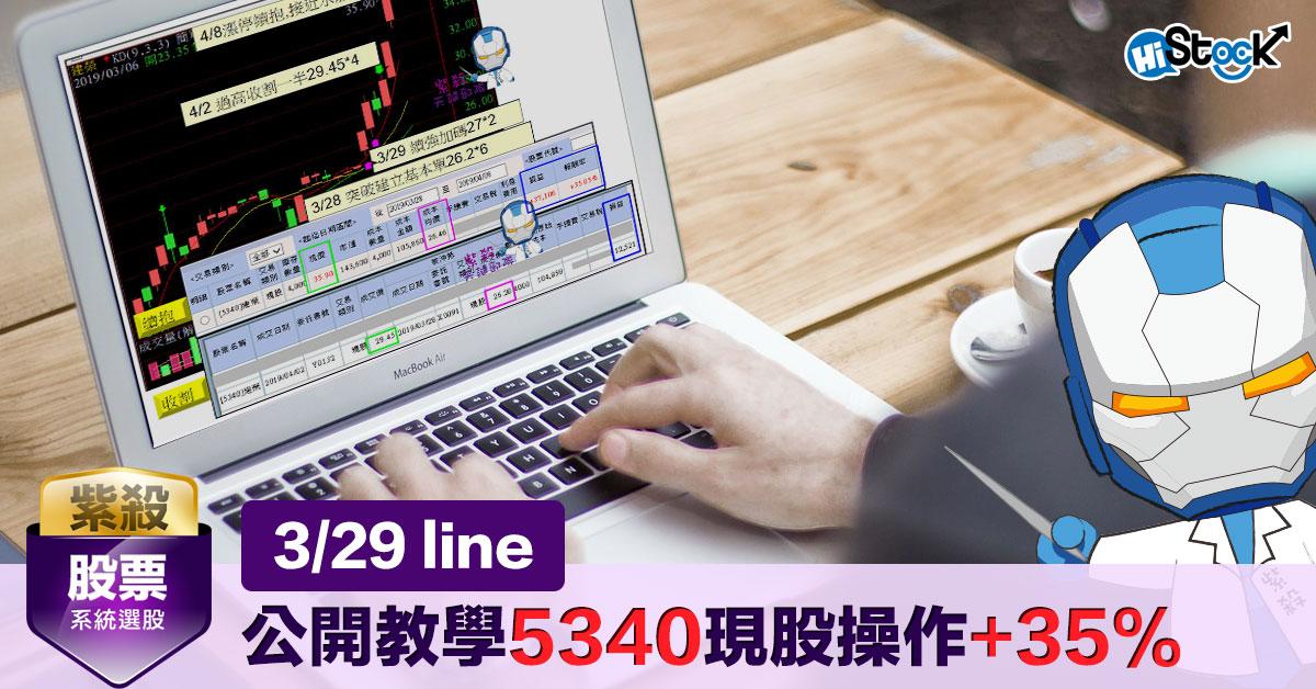 Line公開教學5340現股操作+35%