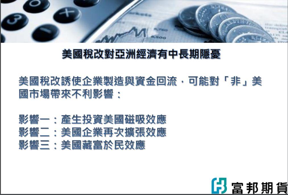 金新聞專題報告-美國稅改對亞洲經濟衝擊效應分析。