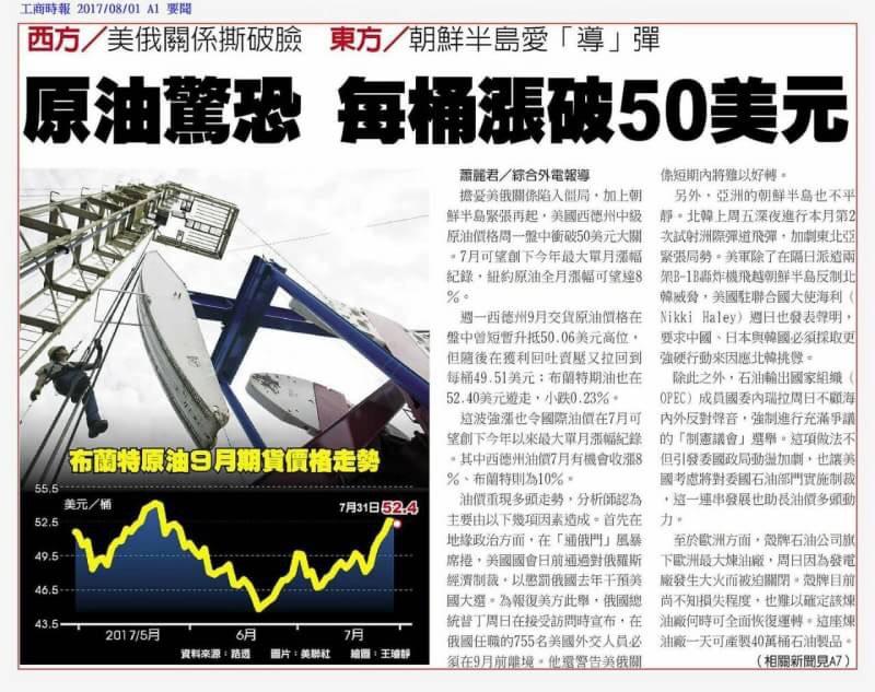 0801金新聞-台股月線連8紅、油價突破50。_04