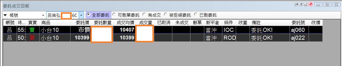 台指當沖程式 V1.0 績效( 2017 10 02)