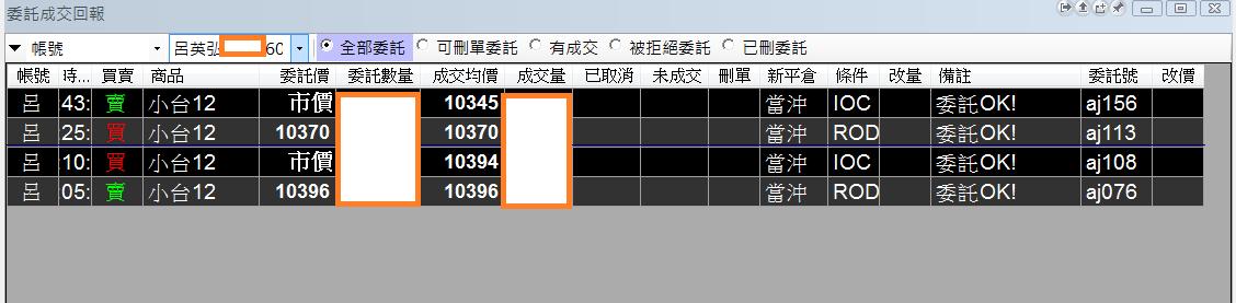台指當沖程式V2.0與 V1.0當沖程式績效( 2017 12 08)