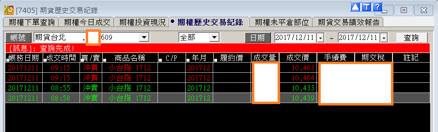 台指當沖程式V2.0與 V1.0當沖程式績效( 2017 12 11)