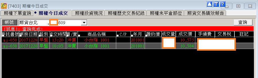 台指當沖程式V1.0績效( 2017 12 28)