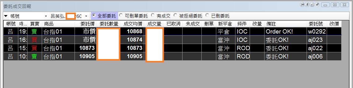 台指當沖程式V1.0績效( 2018 01 09)