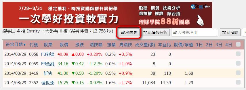 【智慧選股】查詢KD高檔鈍化的股票_02