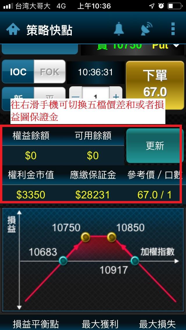 手機快點贏功能介紹保證金賣方及組合單試算_04