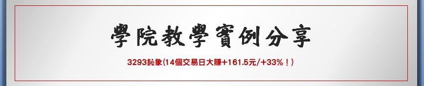 【名諭爸教學實例分享】3293鈊象14個交易日大漲+161.5元/+33%!