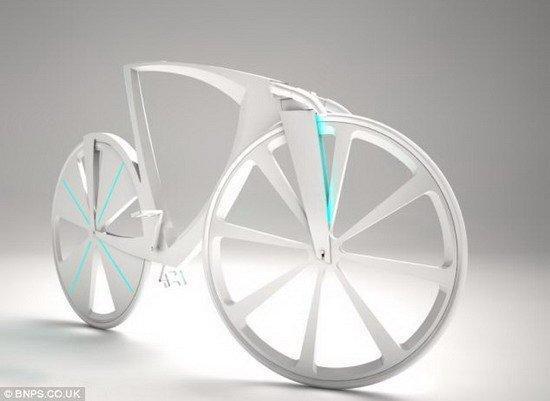 Wow 美國Dezien創新懸浮單車 可透過USB端對手機充電