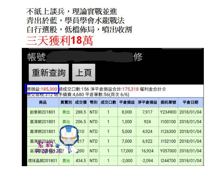 青出於藍,學員三天再賺18萬