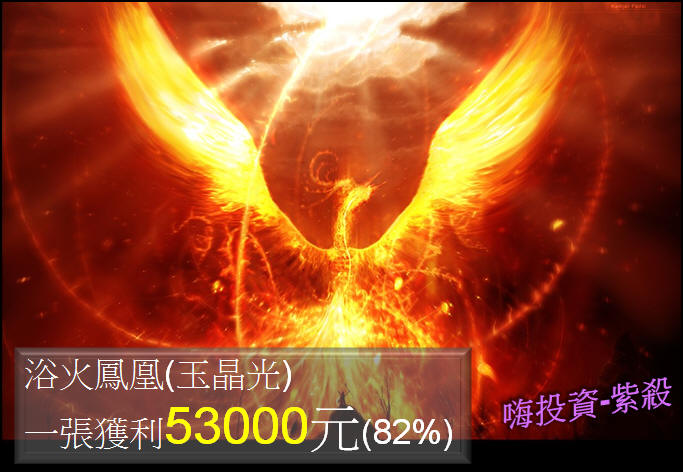[吞下四根漲停板]  3406玉晶光買進一張獲利53000元