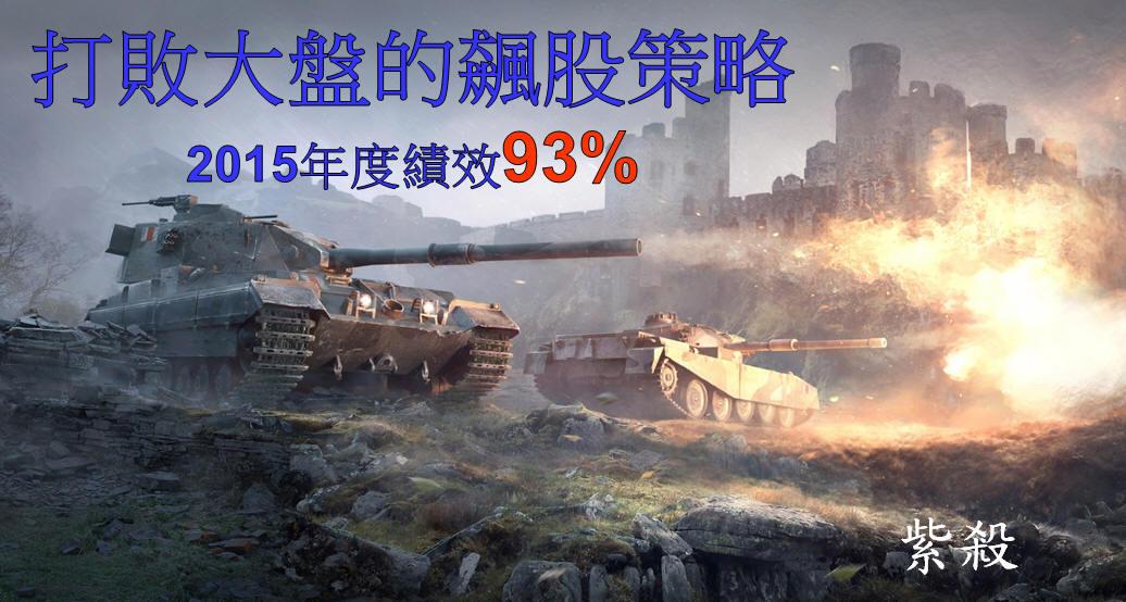 打敗大盤的飆股策略(2015年報酬率93%)