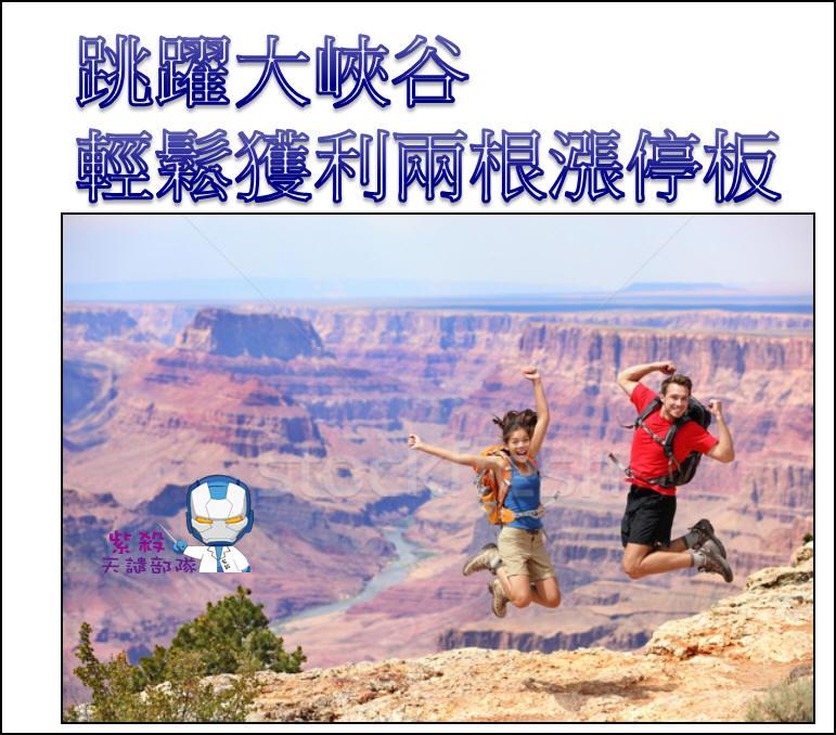 【跳躍飛龍】跳躍大峽谷,兩天兩根漲停板!