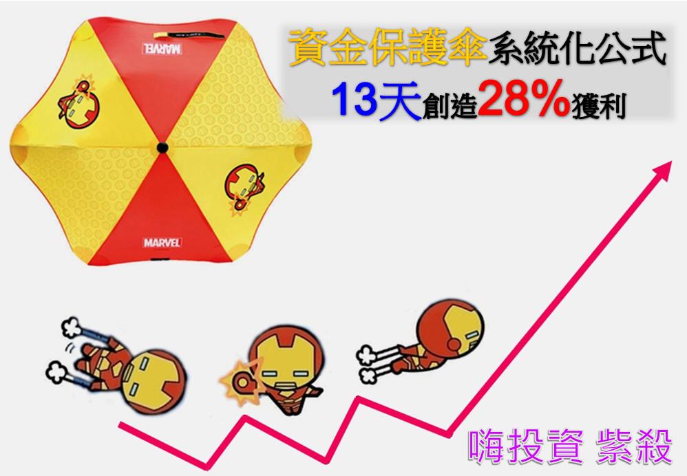 保護傘系統化操作13天可獲利28%