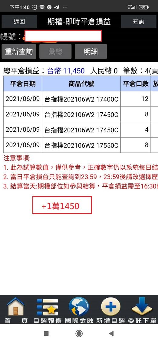 價差單狂賺305萬  16900P以下與17200C以上如期全數歸0_23