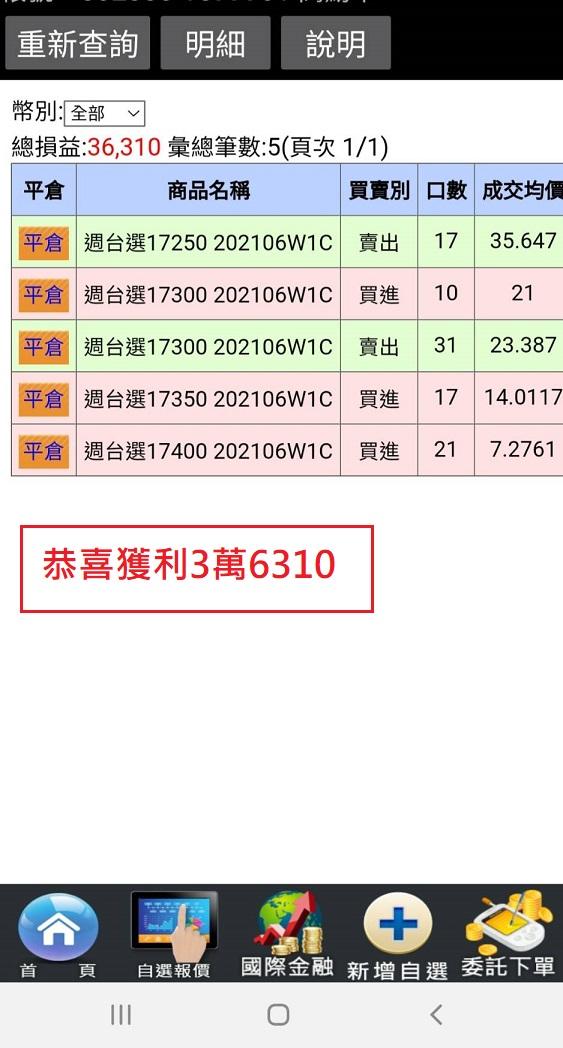 狂賀價差單大賺144萬與123萬與68萬以及33萬_32